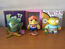 "Rare HTF Kidrobot Simpsons 6"" Lot Ralph Kang Or Kodos Lard Lad w/ Accessories"