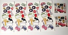 Sticker Lot 6 Sheets Learning to Drive Key License Sign Driving Tires Car Plate