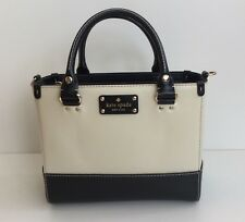 Kate Spade Small Quinn Ivory Black Leather Hand Shoulder Bag New without Tags