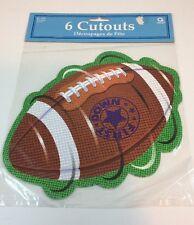 Decoration Game Kickoff Football Tailgate Party 6 Cutouts Super Bowl
