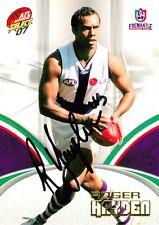 ✺Signed✺ 2007 FREMANTLE DOCKERS AFL Card ROGER HAYDEN