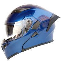 Flip Up Motorcycle Helmet With Inner Sun Visor Double Lens Modular Moto Helmets