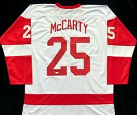 Darren McCarty Signed Autograph White Hockey Jersey JSA Detroit Red Wings Great
