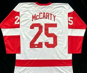 Darren McCarty Signed Autograph White Hockey Jersey JSA Detroit Red Wings Great