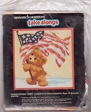 Yankee Doodle Teddy Cross Stitch Kit Monarch Horizons Patriotic USA Reinardy 7x7