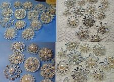 Wholesale Job Lot - 6 x Assorted Faux Pearl & Diamante Brooches