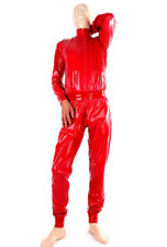 Latex Catsuit Rubber Gummi Red Sports Tracksuit One-Piece Cool Customized .4mm
