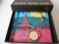 Alex and Ani Dolphin & Sand Dollar Necklace Color Infusion, Shiny Rose NWTBC