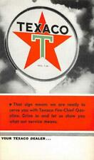 TEXACO GAS STATION SERVICE ADVERTISING POSTCARD (c. 1930s)