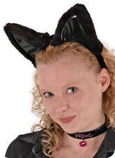Black Cat Costume Ears Headband Collar & Tail Cute Sexy Animal Adult Halloween