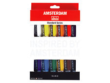 Amsterdam Acrylic Colour Paint Set - 12 x 20ml Tubes