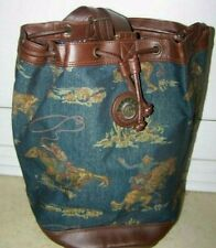 Carlton vintage /tapestry rodeo horse patterned womens/mens   bag (H3)