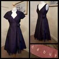 Debut Purple Ballgown with Matching Bolero Corsage Netted Underskirt  Size 10
