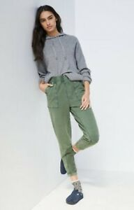 NWT ANTHROPOLOGIE SATURDAY SUNDAY THEO UTILITY JOGGERS KNIT PANTS MOSS L LARGE