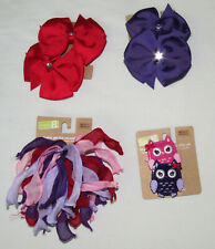 Crazy 8 Pocketful of Petals 2012 hair accessories UPICK purple red owl bow clips