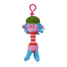 """Trolls """"Cooper"""" Backpack Plush Coin Clip Key Chain Toy Bag"""