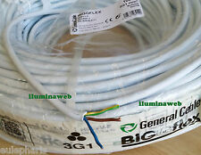 100 Metros de Manguera 3x1mm2 Blanca, Hasta 1500w, General Cable