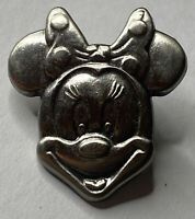 """Disney Minnie Mouse Head Pewter Pin Minnie Face Lapel Pin 1 1/4"""""""