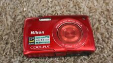 Nikon COOLPIX S4300 16MP 6x Optical Zoom Touch Screen for parts.17025
