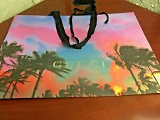 GUCCI Shopping Gift Tote Paper Bag Palm Tree 2019 Holiday Bag. 21.5x 15.5 Inches