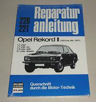 Reparaturanleitung / Handbuch Opel Rekord II - ab Baujahr 1972 bis 1974