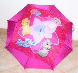 Ombrello Bambina Perletti Zhu Pets Originale Rosa e Fucsia  per Bimba Automatico