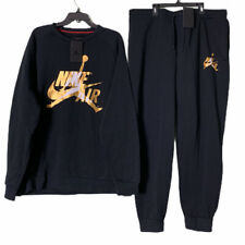 Nike Jordan Air Sweatsuit Hoodie & Pants Black Size 2XL