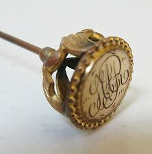 Antique Hatpin Art Nouveau Monogram