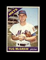 1966 Topps Baseball #124 Tug McGraw (Mets) EXMT