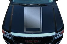 Vinyl Graphics Decal Wrap Kit for 2014-2017 GMC Sierra RACING STRIPES V2 Silver