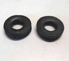 H 79  ) lot de 2 pneus arrière quadrillés anciennes F1  JOUEF  circuit routier