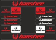 BANSHEE Mountain Bicycle Frame Decal Stickers Graphic Set Adhesive Vinyl Red