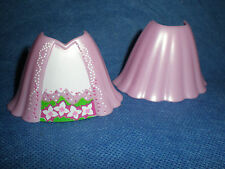 Playmobil Prinzessin Reifrockdame rosa Reifrock Rock Blumenmuster unbespielt top