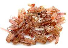 50 Grams Peach Golden Tourmaline Crystals Cab Cabochon Gem Gemstone Rough EC3