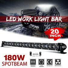 "20""inch 180W Slim Single Row 6D Spot Beam Off-Road LED Work Light Bar Waterproof"