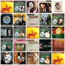 25 country CD lot HANK WILLIAMS,WILLIE NELSON,KENNY ROGERS,MERLE HAGGARD,CONWAY+