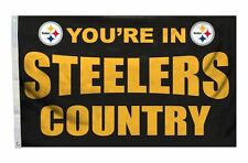 Pittsburgh Steelers 3x5 Country Design Flag [New] Nfl Banner Sign Fan Wall House