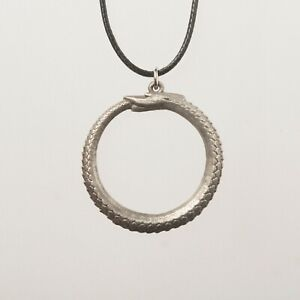 Ouroboros - Pewter Pendant - Serpent Eating its Tail - Symbol of Infinity