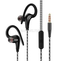 sports in ear over headphones earphones with mic + remote for gym jogging mp3