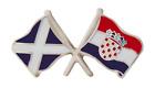 Croatia Flag & Scotland Flag Friendship Courtesy Pin Badge