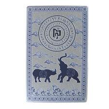 Feng Shui Blue Rhino Elephant Anti Burglary Talisman Card