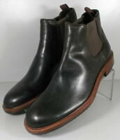 302106 TMSBT50 Men's Shoes Size 10 M Black Leather Slip On Boots H.S. Trask
