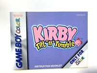 Kirby Tilt 'n' Tumble Game Boy Color GBC Authentic Manual Booklet Only