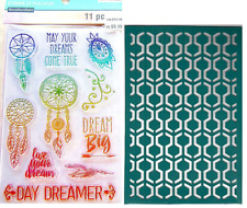 Recollections Stamps & Stencil - Dreamcatcher - Big, Live Your Dream Day Dreamer