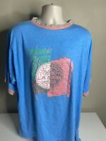 Vintage 90s L.A. Gear T Shirt Men's Size XL Blue