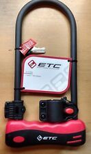 "ETC  Large Strong ""D"" Shackle bike / cycle U Lock 12mm x 160 x 320mm"