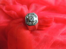 Beautiful Men's Vintage Cubic Zirconia Sterling Silver Ring Size 11