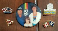 Lot Of 5 ~ Canada Pins Pinback Buttons Expo 86 Pins