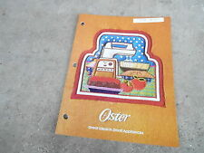 Vintage 1976 Catalog #3229 - Oster Small Kitchen Appliances