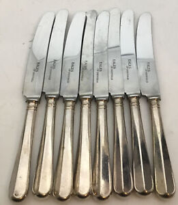8 X VINTAGE EALES OF SHEFFIELD 22cm LONG STAINLESS STEEL KNIVES